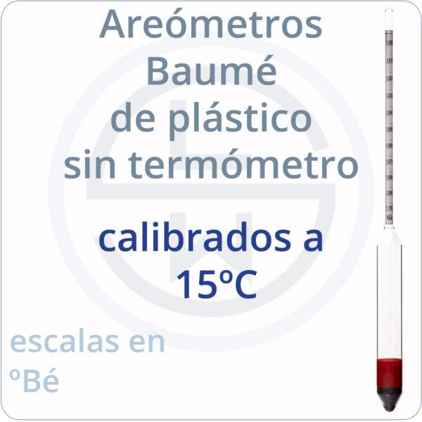 areómetros baumé de plástico sin termómetro calibrados a 15ºC