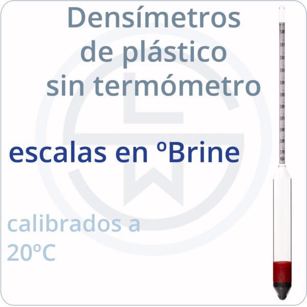 densímetros de plástico sin termómetro - ºBrine