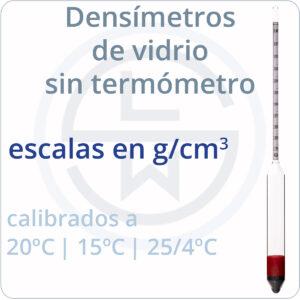 escalas en g/cm³