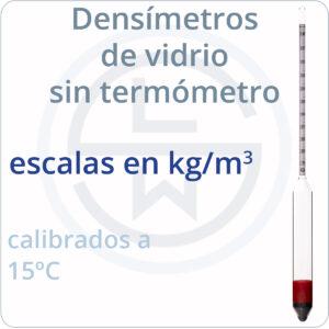 escalas en kg/m³
