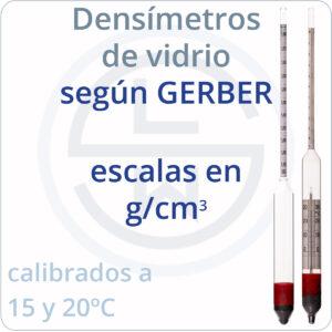 densímetros según GERBER