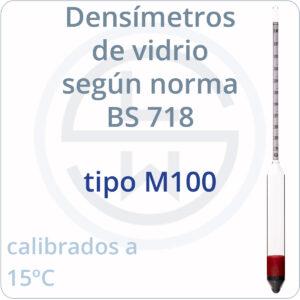 densímetros según norma BS 718 tipo M100
