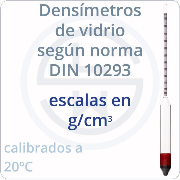densímetros según norma DIN 10293