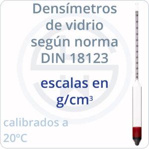 densímetros según norma DIN 18123