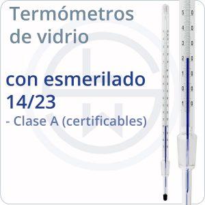 termómetros de vidrio con esmerilado 14/23