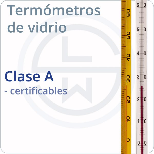 termómetros de vidrio clase A